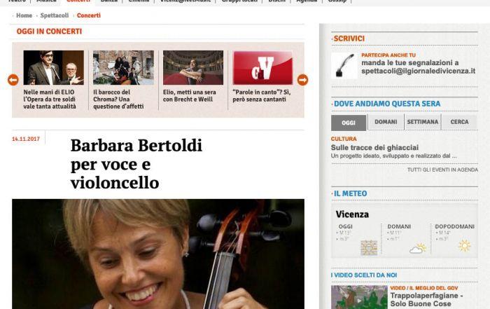 Il Giornale di Vicenza 14/11/2017