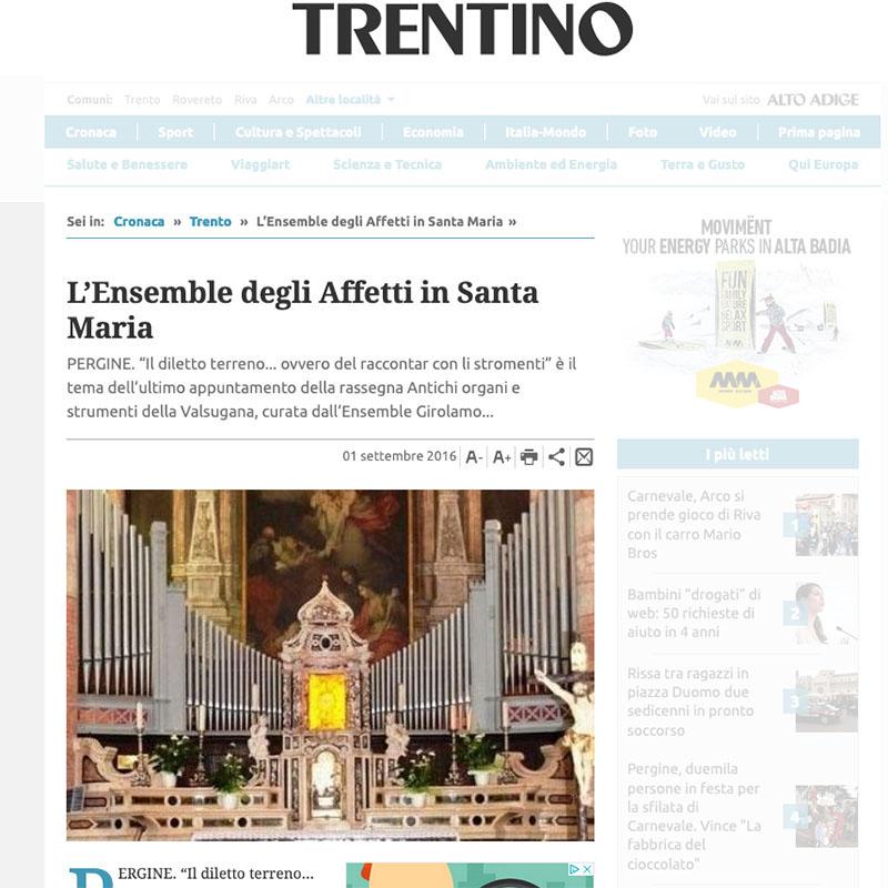 Giornale Trentino 01/09/2016