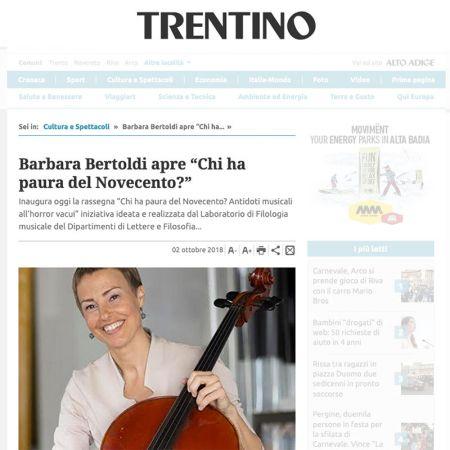 Giornale Trentino 02/10/2018