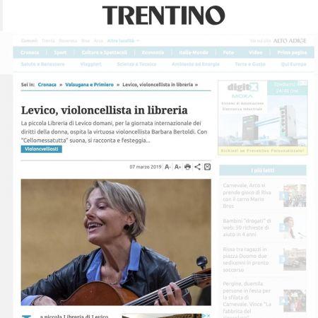 Levico, violoncellista in libreria