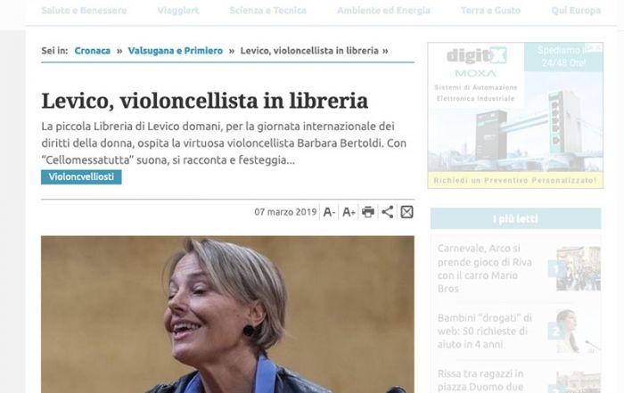 Giornale Trentino 07/03/2019