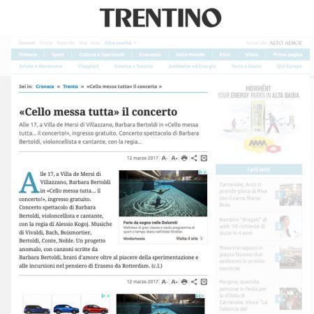 «Cello messa tutta» il concerto