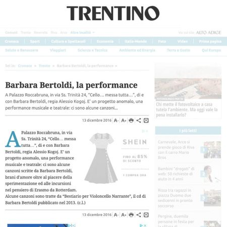 Barbara Bertoldi, la performance