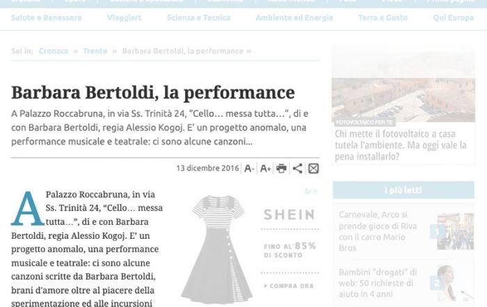 Giornale Trentino 13/12/2016