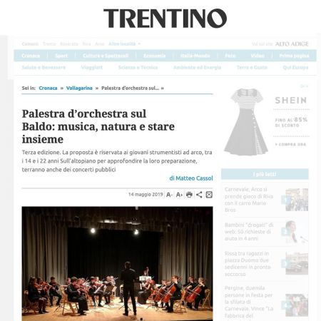 Palestra d'orchestra sul Baldo: musica, natura e stare insieme