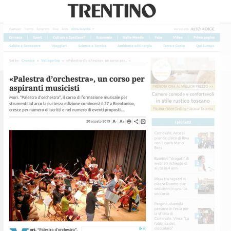 «Palestra d'orchestra», un corso per aspiranti musicisti