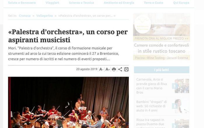 Giornale Trentino 20/08/2019