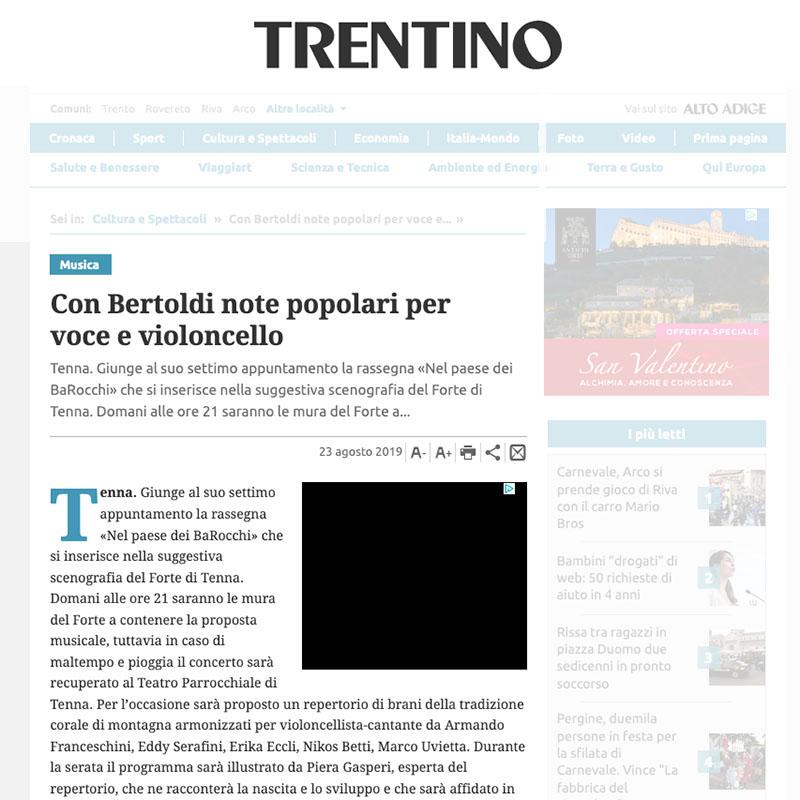 Giornale Trentino 23/08/2019