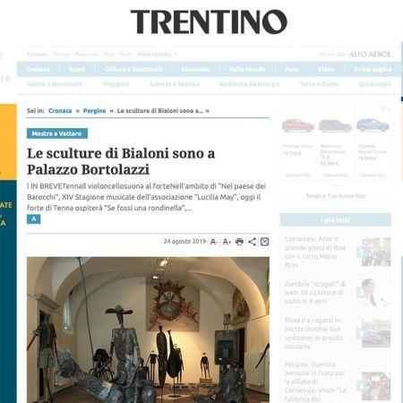 Le sculture di Bialoni sono a Palazzo Bortolazzi