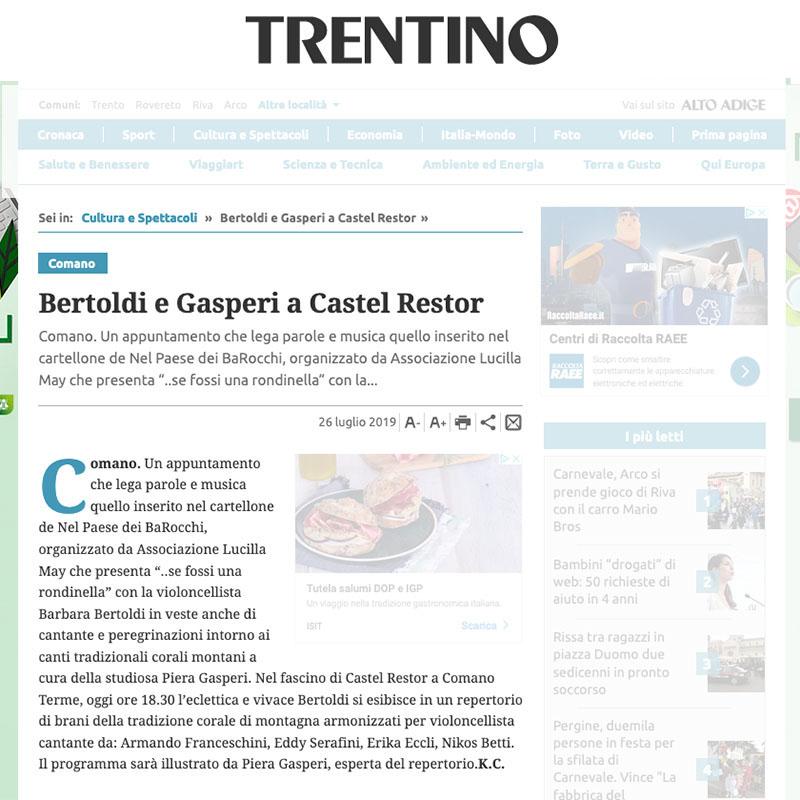 Giornale Trentino 26/07/2019