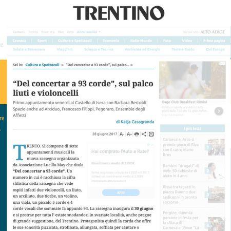 """""""Del concertar a 93 corde"""", sul palco liuti e violoncelli"""