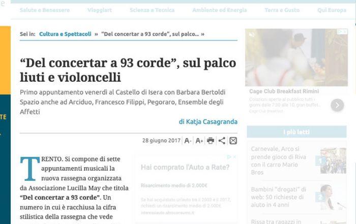 Giornale Trentino 28/06/2017
