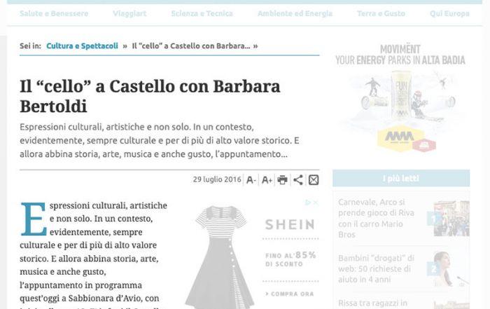 Giornale Trentino 29/07/2016