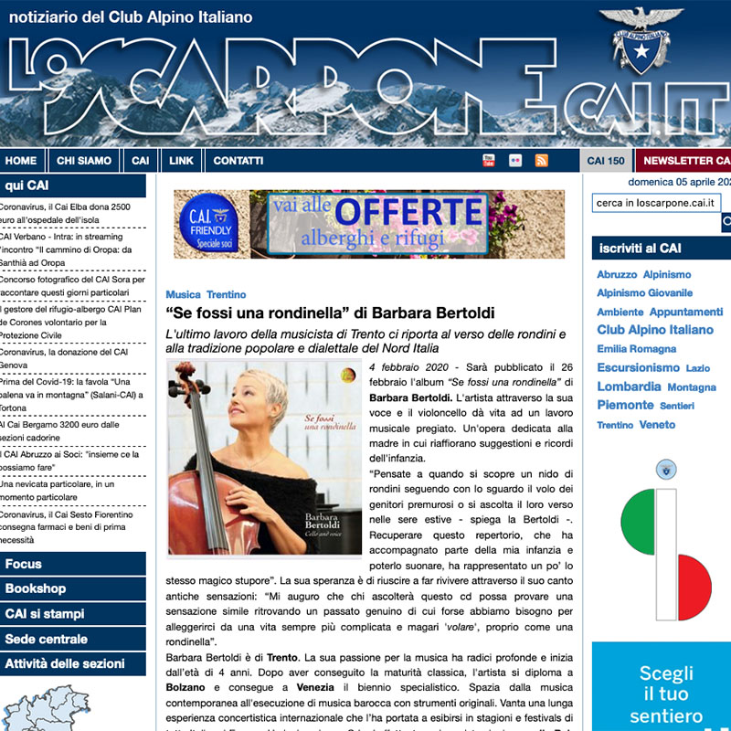 Lo Scarpone - CAI - 04/02/2020