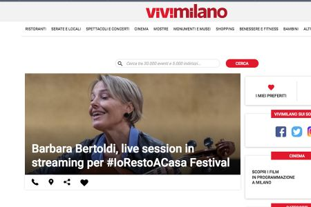 Barbara Bertoldi, live session in streaming per #IoRestoACasa Festival