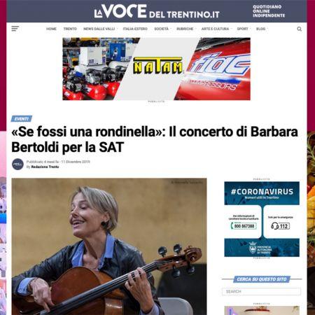 «Se fossi una rondinella»: Il concerto di Barbara Bertoldi per la SAT