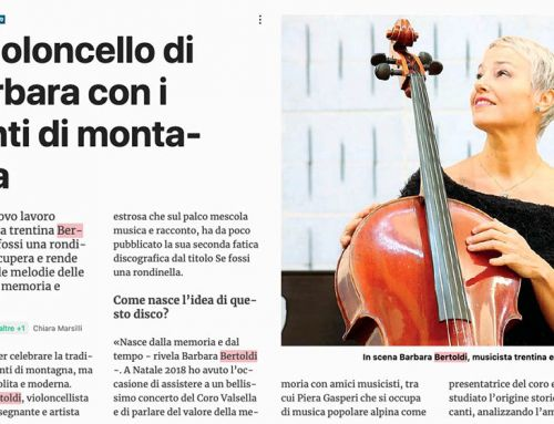 Il violoncello di Barbara con i canti di montagna
