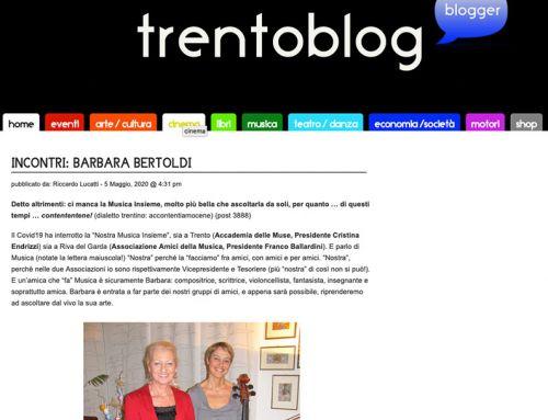 Incontri: Barbara Bertoldi