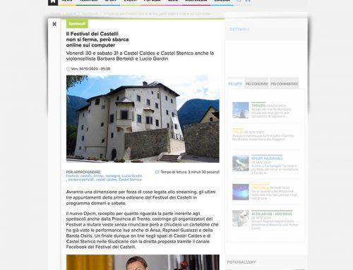 Il Festival dei Castelli non si ferma, però sbarca online sui computer